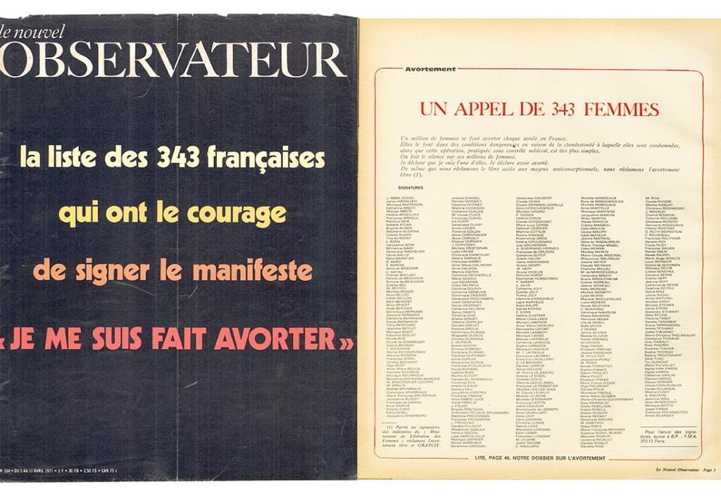Le Nouvel Obs, manifeste des 343 salopes